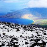 Snow on Haleakala, Maui.