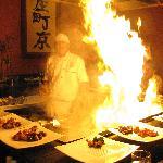 spectacle au restaurant japonais Mikado