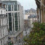 View from the room...Champs Elysees is the intersection