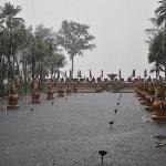 JW Marriott territory, rain