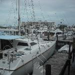 View of dock in front of Restaurant