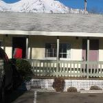 Motel Entrance & Mt. Shasta