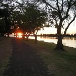 Sunset over the Hunter at Raymond Terrace