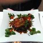 Un autre exemple de plat servi à l'hotel