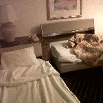 "this is what they consider a ""Suite"" , you had to pull the beds out fron under a table?"
