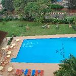 Hotel des Mille Collines - pool viewed from above.