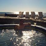 One of the hot tubs at Las Rocas
