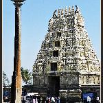 Belur - Gopuram and Dwajasthambam