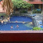 The swimming pool from the third floor view