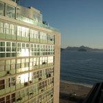 vistas a la playa de Copacabana desde el hotel