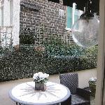 the patio outside the Misinguett suite