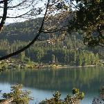 Cabaña con vista al lago