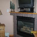 Fireplace with DVD and TV