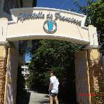 @ the main entrance