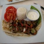 Kebab from the restaurant