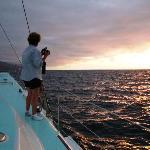 Sunset sailing on Humu Humu