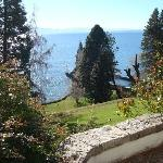 Photo of hotel's backyard and the Nahuel Huapi lake