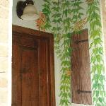 The Studio-door painting