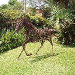 Horse-metal sculpture