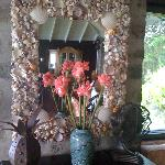 Beautiful seashell mirrors