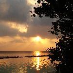 Sonnenuntergang vom Bungalow aus gesehen
