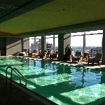 Rooftop indoor pool.