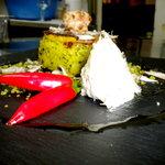 Tortino di patate con baccalà mantecato