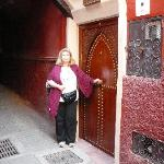 Front door to Riad Argan