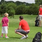 Families enjoying the course at Ledene