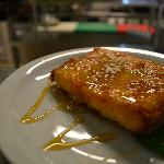 feta cheese wrapped in shortcrust pastry with honey and sesame!Delicious!