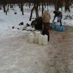 Filling up water bottles!!