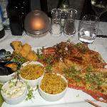 One of our meals at the Tides Restaurant