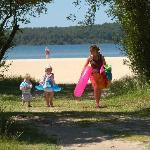 Vive la plage du lac!