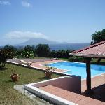 The pool with a view of St Kitts