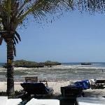 La spiaggia con la bassa marea