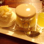 Trio of lemon puddings