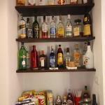 Complimentary bar room