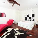 Massive king beds in designer bedrooms