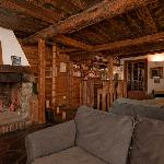 Our cosy bar/lounge with log fire