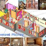 Map apartment Pleney