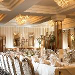 A wedding set up in the Grand Ballroom