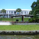 Picture of resort from their boat dock