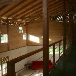 View out of rooms to Common Area