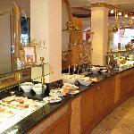 Buffet au restaurant