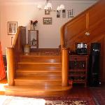 Rimu timber staircase to upper rooms