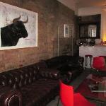 Bar area inside hotel