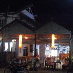 B&P restaurant at night