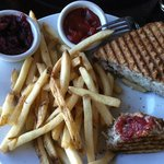 turkey, Brie, apple panini