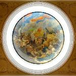"The original plafond ""The Labor and Harvest Day in hospitable Ukraine"""