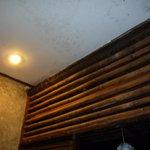 mildewy toilet ceiling